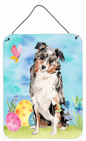 Buy this Australian Shepherd Easter Wall or Door Hanging Prints BB9607DS1216