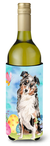 Buy this Australian Shepherd Easter Wine Bottle Beverge Insulator Hugger BB9607LITERK