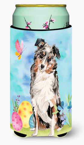 Buy this Australian Shepherd Easter Tall Boy Beverage Insulator Hugger BB9607TBC