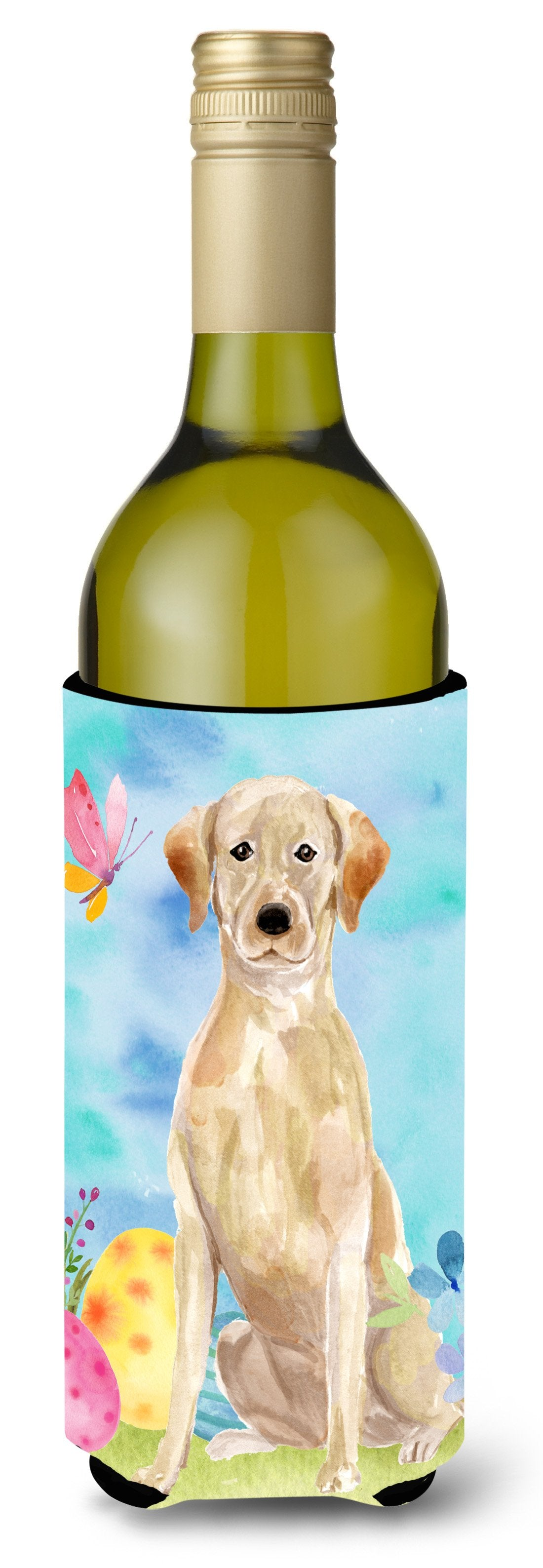 Buy this Yellow Labrador Easter Wine Bottle Beverge Insulator Hugger