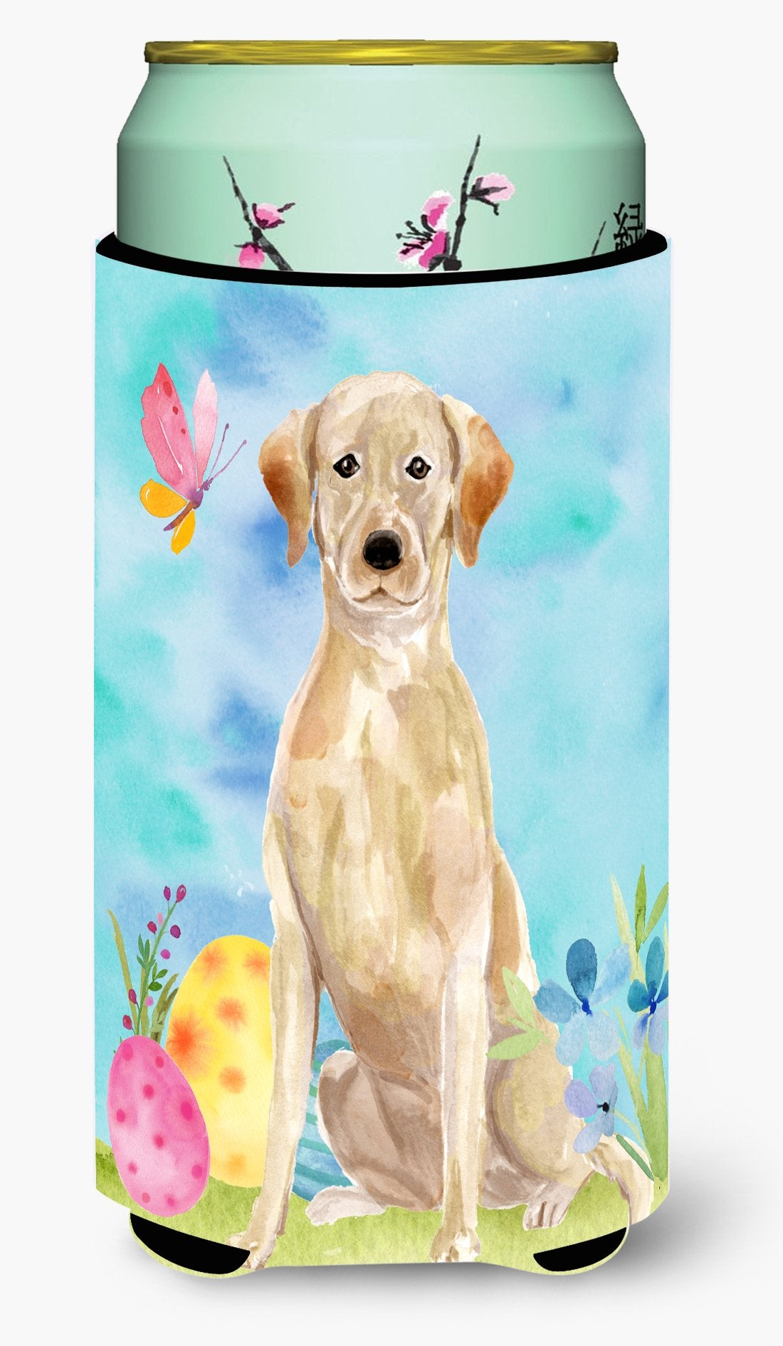 Yellow Labrador Easter Tall Boy Beverage Insulator Hugger by Caroline's Treasures