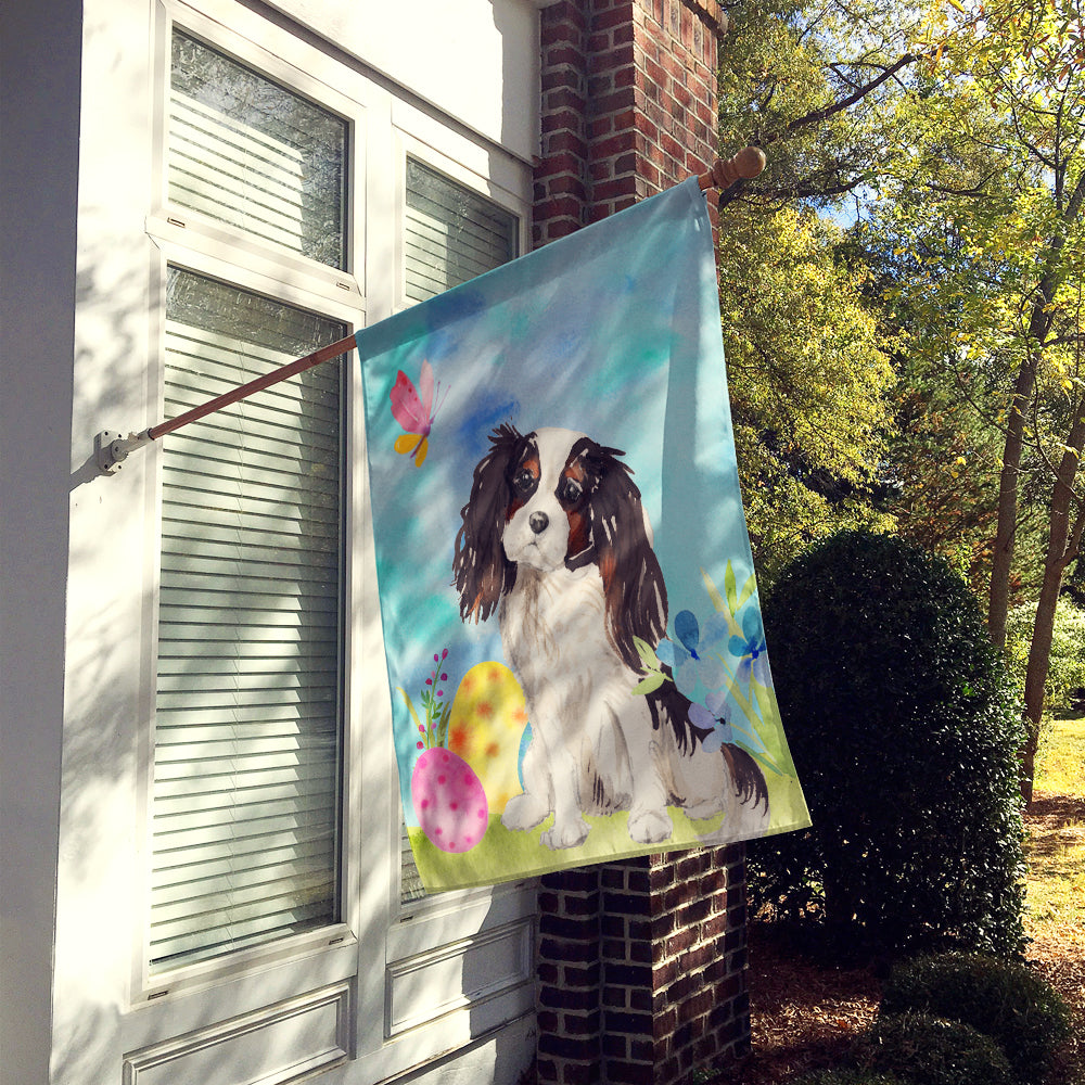 Tricolor Cavalier Spaniel Easter Flag Canvas House Size BB9612CHF by Caroline's Treasures