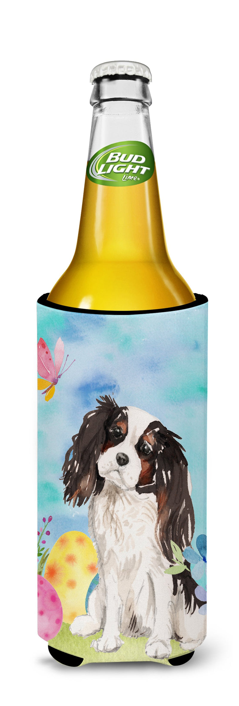 Tricolor Cavalier Spaniel Easter Michelob Ultra Hugger for slim cans BB9612MUK by Caroline's Treasures