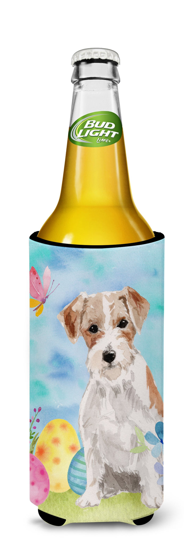 Buy this Wire Hair Jack Russell Easter Michelob Ultra Hugger for slim cans BB9613MUK