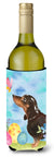 Buy this Black and Tan Dachshund Easter Wine Bottle Beverge Insulator Hugger BB9615LITERK