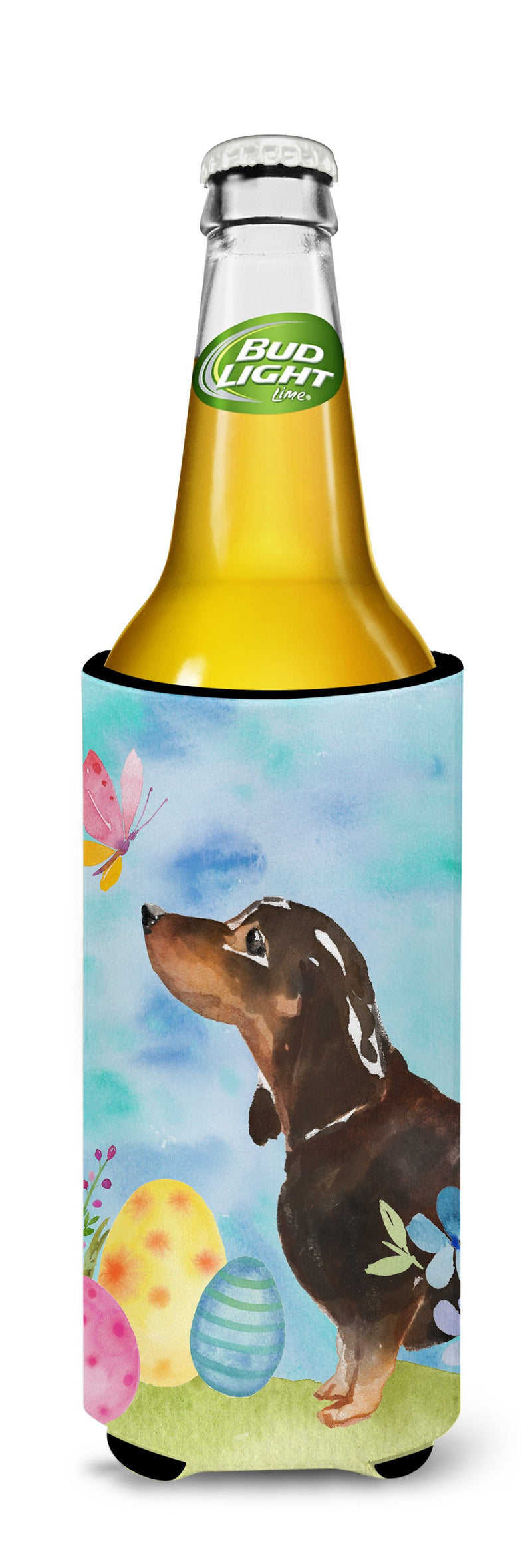 Buy this Black and Tan Dachshund Easter Michelob Ultra Hugger for slim cans BB9615MUK
