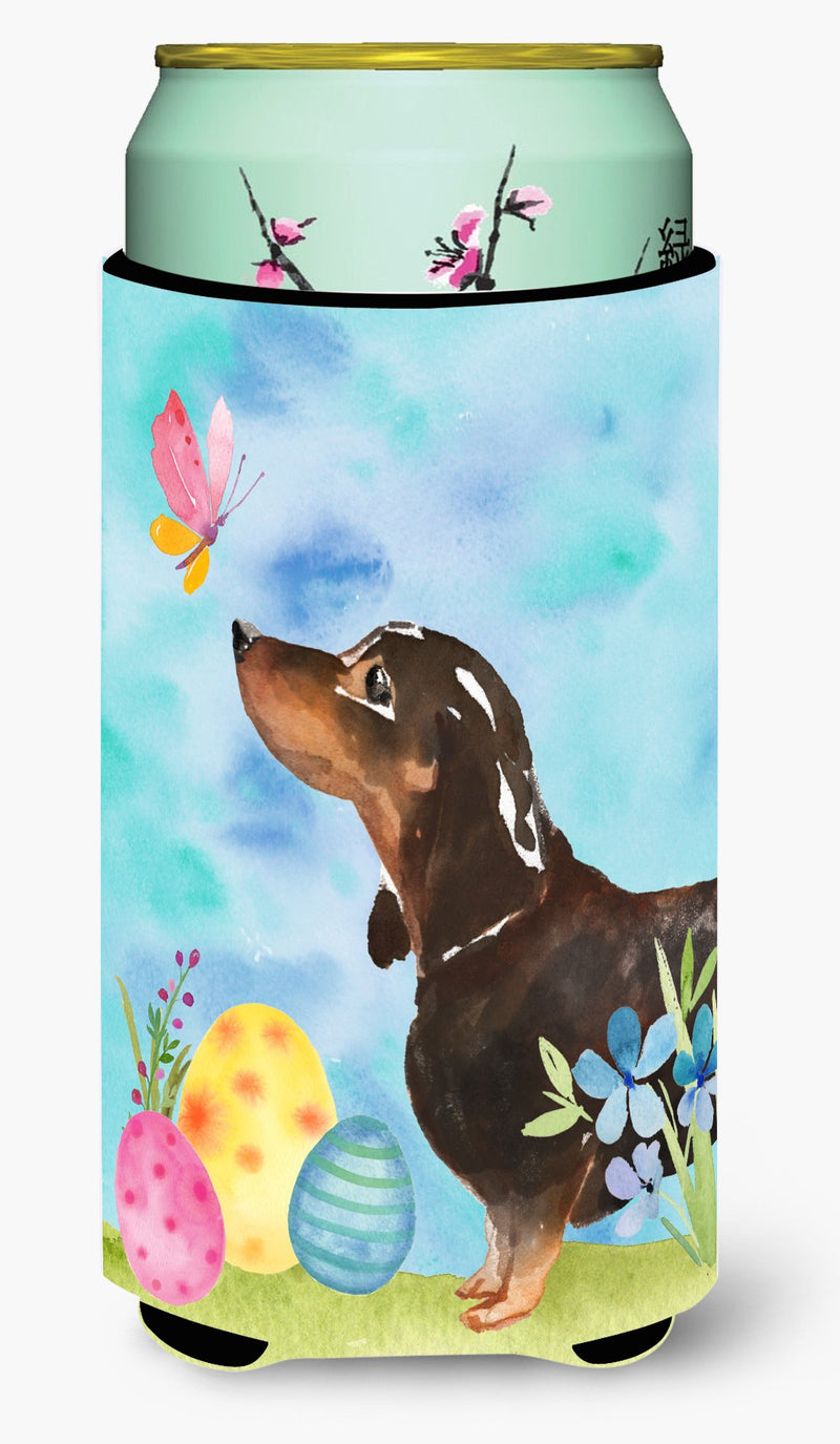 Buy this Black and Tan Dachshund Easter Tall Boy Beverage Insulator Hugger BB9615TBC