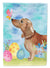 Buy this Red Tan Dachshund Easter Flag Canvas House Size BB9616CHF