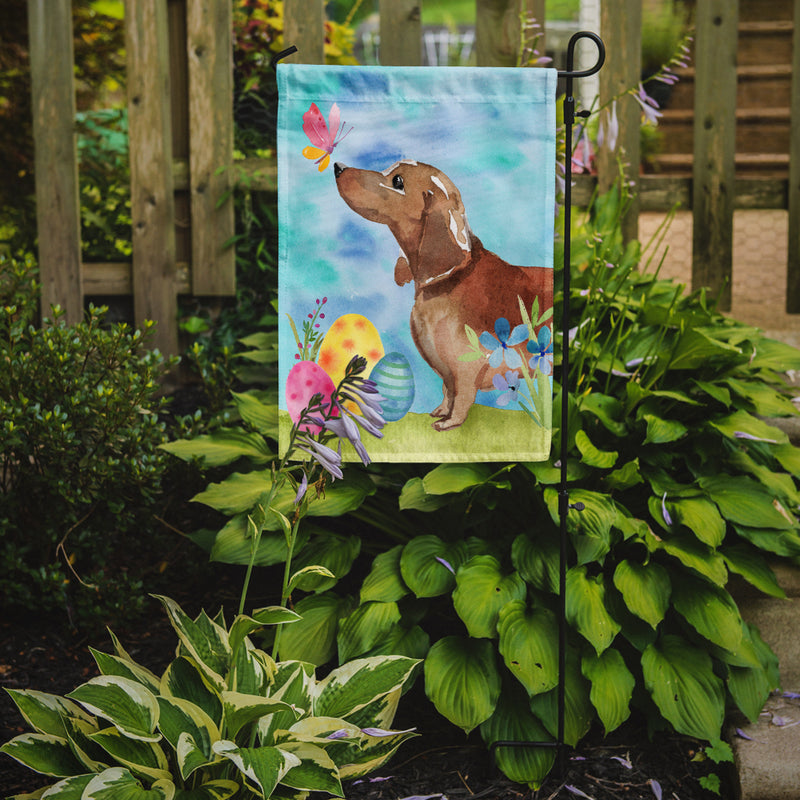 Buy this Red Tan Dachshund Easter Flag Garden Size BB9616GF