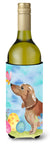 Buy this Red Tan Dachshund Easter Wine Bottle Beverge Insulator Hugger BB9616LITERK