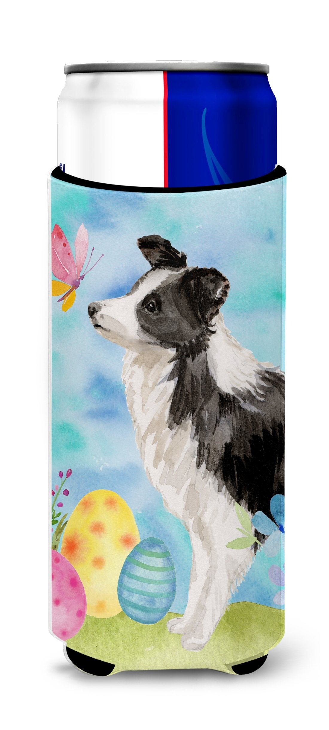 Border Collie Easter Michelob Ultra Hugger for slim cans BB9618MUK by Caroline's Treasures