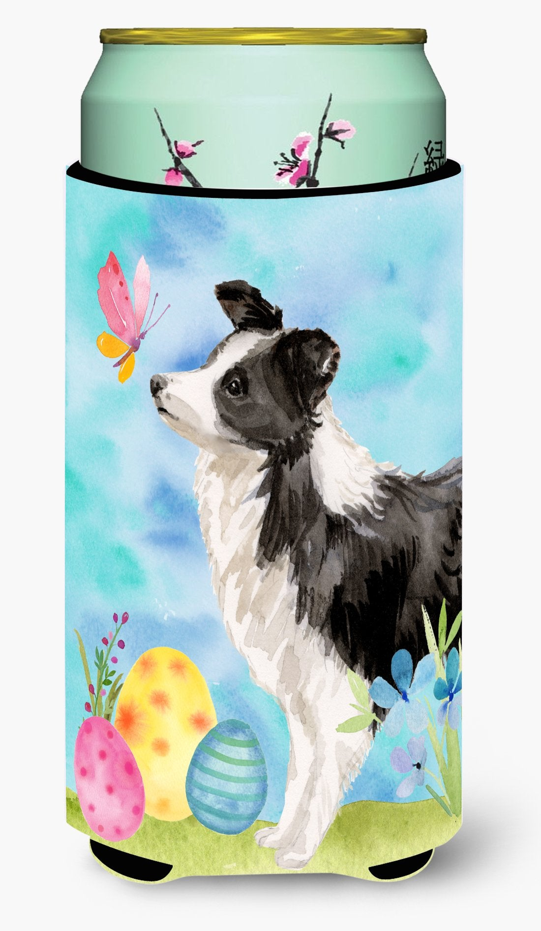 Border Collie Easter Tall Boy Beverage Insulator Hugger BB9618TBC by Caroline's Treasures