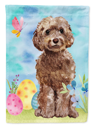 Buy this Brown Cockapoo Easter Flag Canvas House Size BB9619CHF