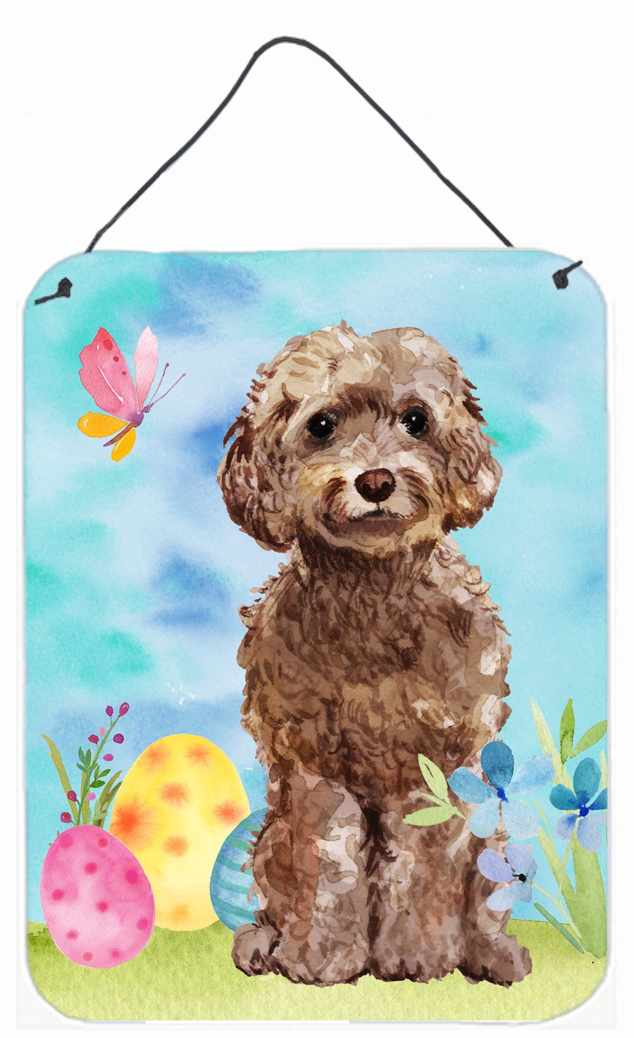 Buy this Brown Cockapoo Easter Wall or Door Hanging Prints BB9619DS1216
