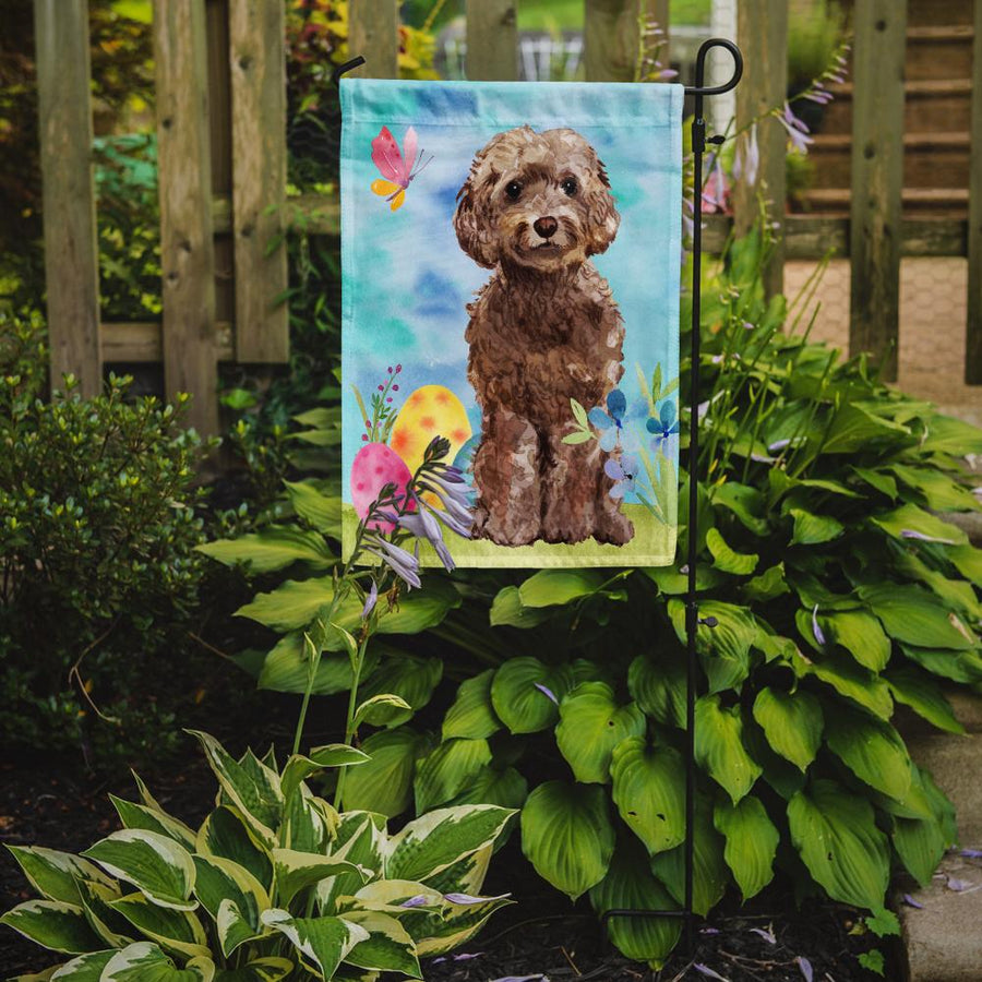 Buy this Brown Cockapoo Easter Flag Garden Size BB9619GF