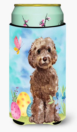 Buy this Brown Cockapoo Easter Tall Boy Beverage Insulator Hugger BB9619TBC