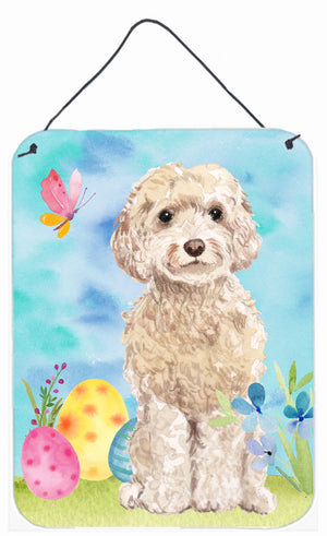 Buy this Champagne Cockapoo Easter Wall or Door Hanging Prints BB9620DS1216