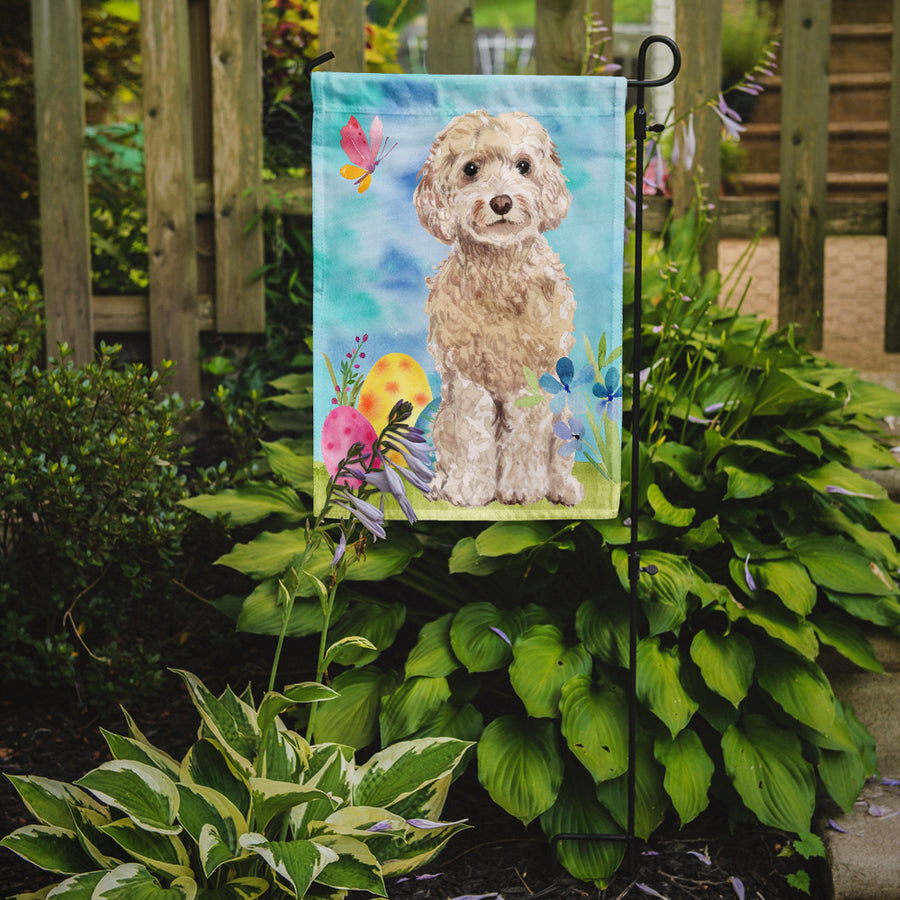 Buy this Champagne Cockapoo Easter Flag Garden Size BB9620GF