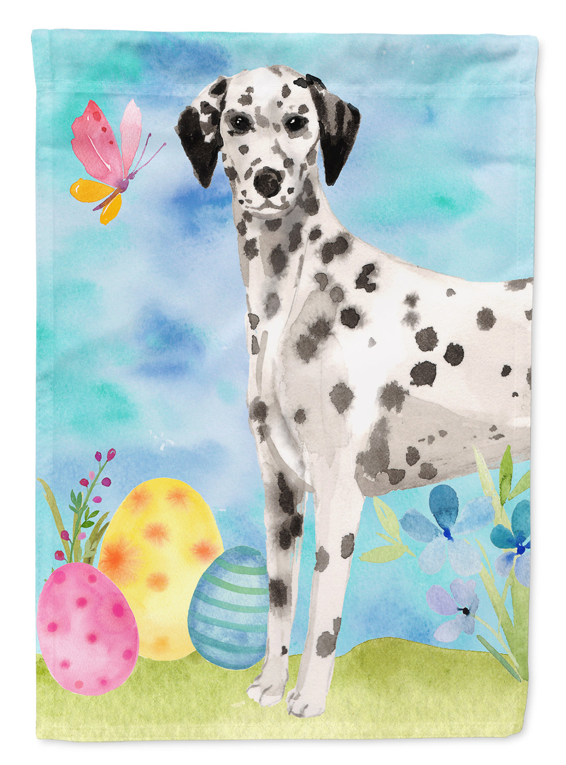 Dalmatian Easter Flag Canvas House Size BB9625CHF by Caroline's Treasures
