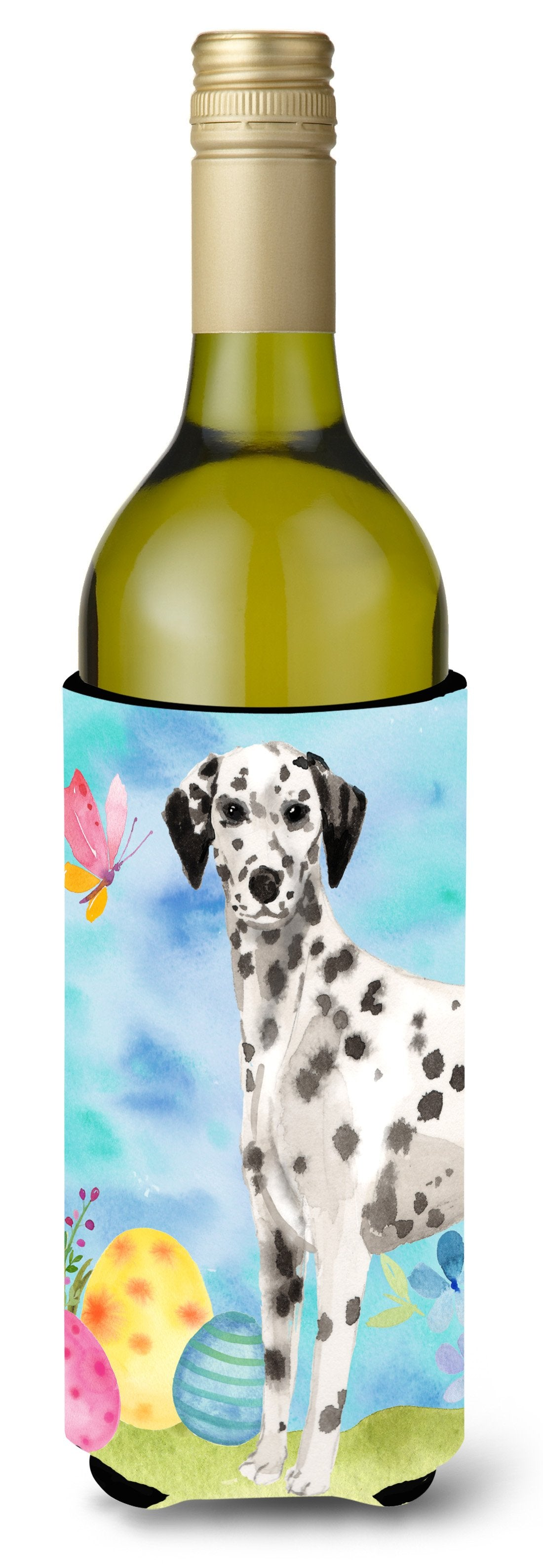 Dalmatian Easter Wine Bottle Beverge Insulator Hugger BB9625LITERK by Caroline's Treasures
