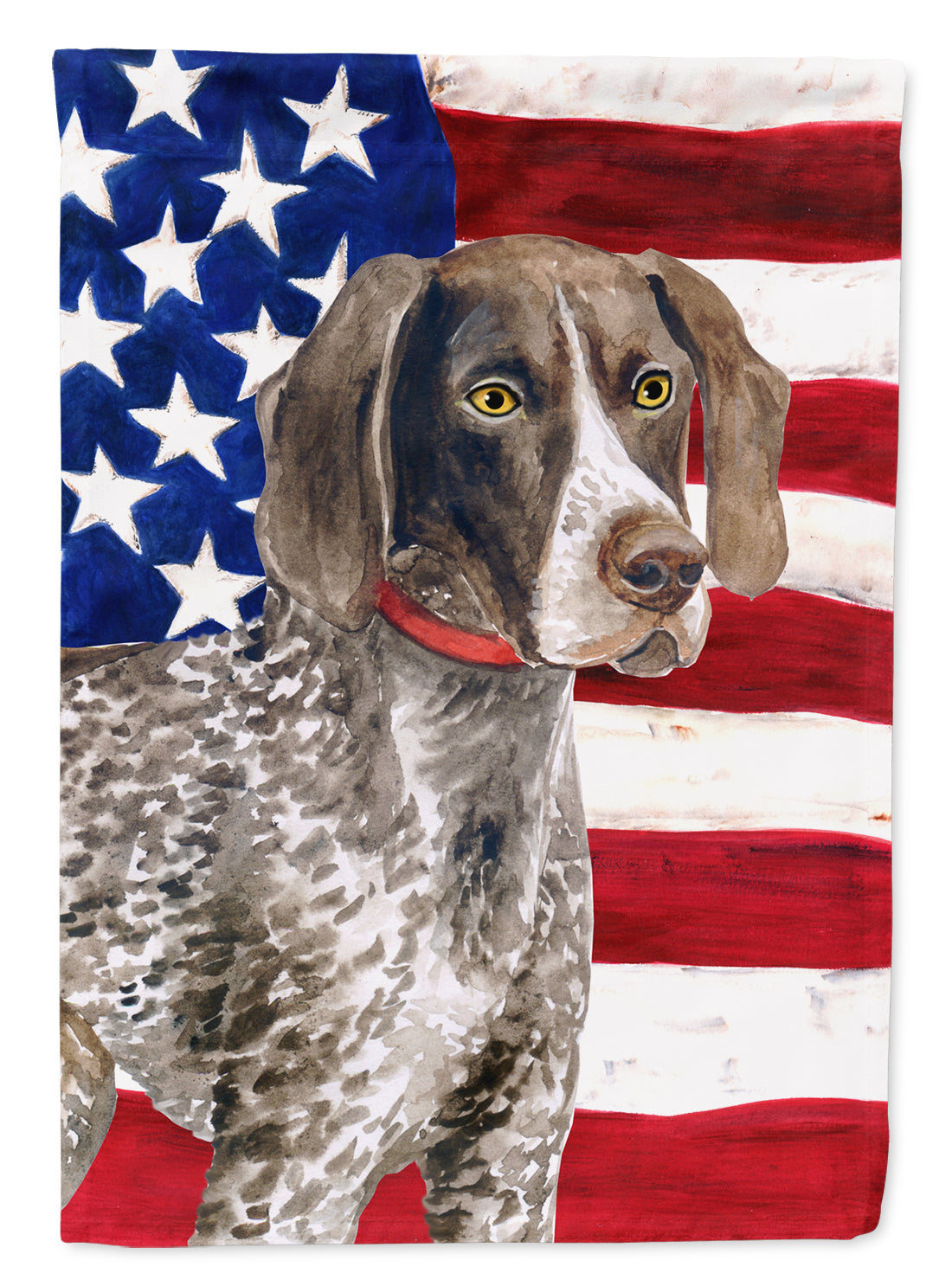 German Shorthaired Pointer Patriotic Flag Canvas House Size BB9641CHF by Caroline's Treasures