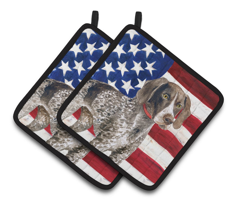 Buy this German Shorthaired Pointer Patriotic Pair of Pot Holders BB9641PTHD