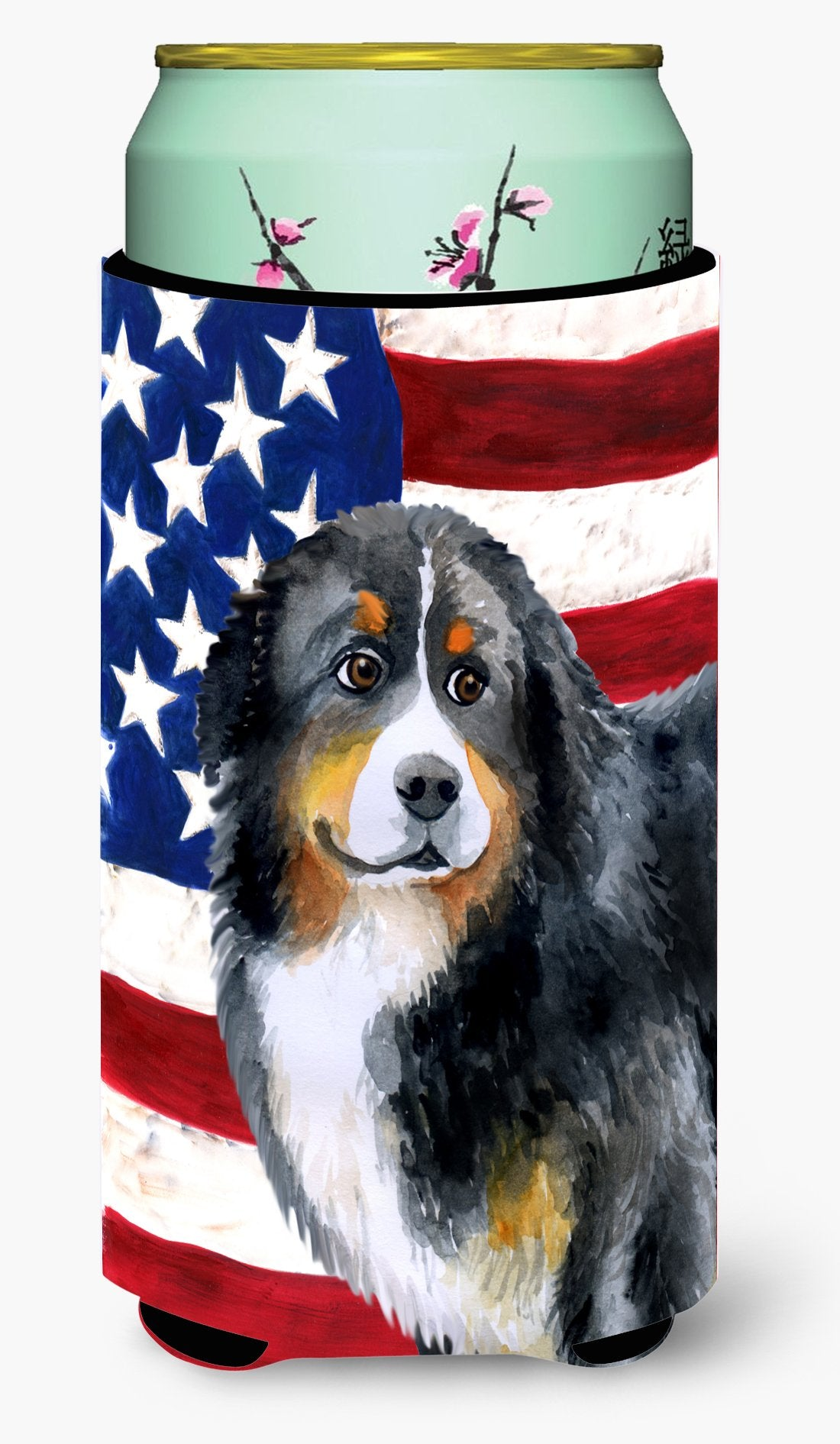 Bernese Mountain Dog Patriotic Tall Boy Beverage Insulator Hugger BB9645TBC by Caroline's Treasures