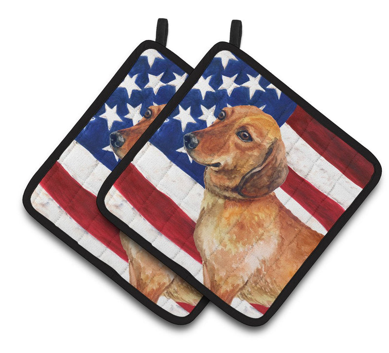 Buy this Dachshund Patriotic Pair of Pot Holders BB9652PTHD