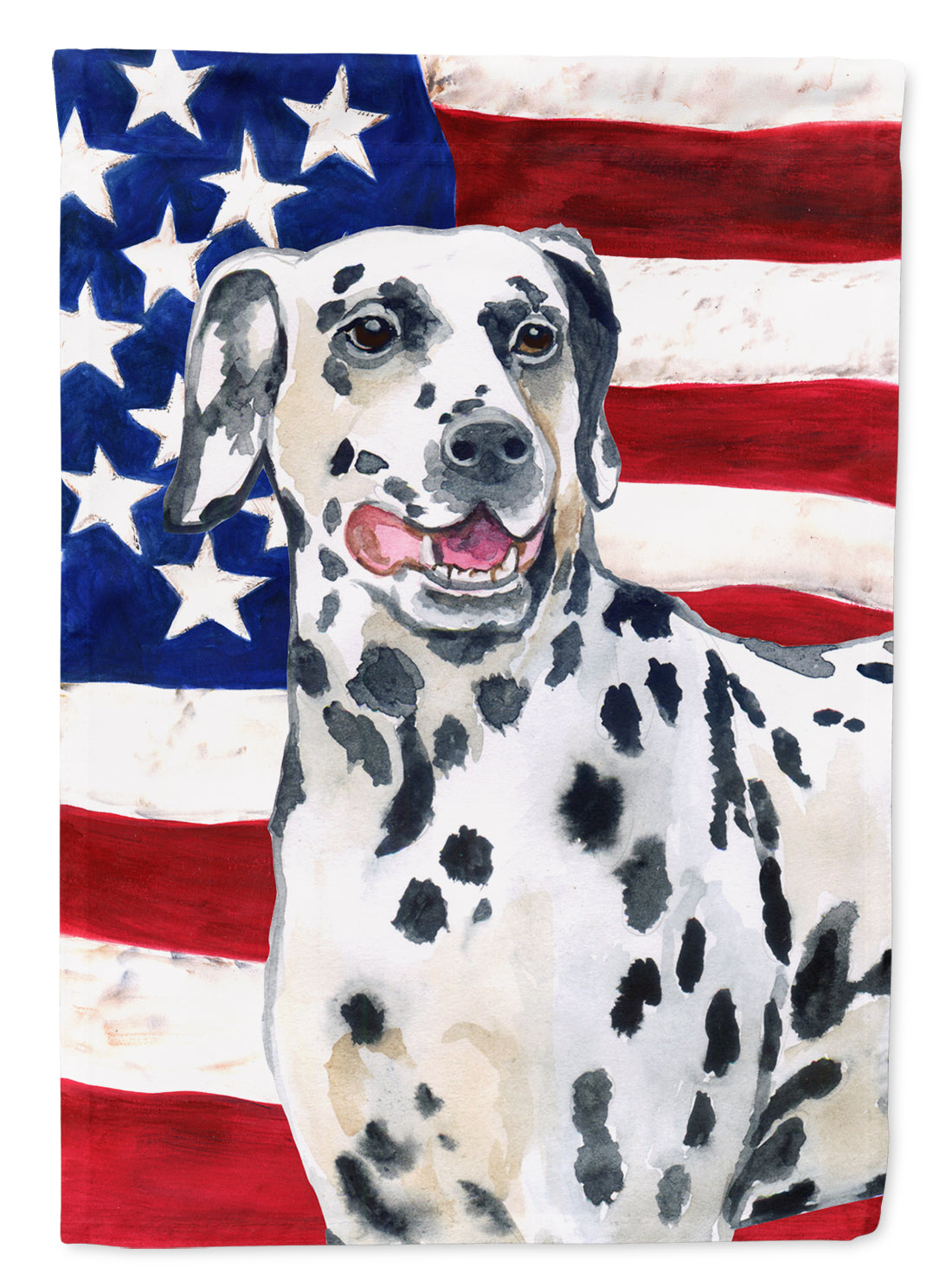 Dalmatian Patriotic Flag Canvas House Size BB9653CHF by Caroline's Treasures