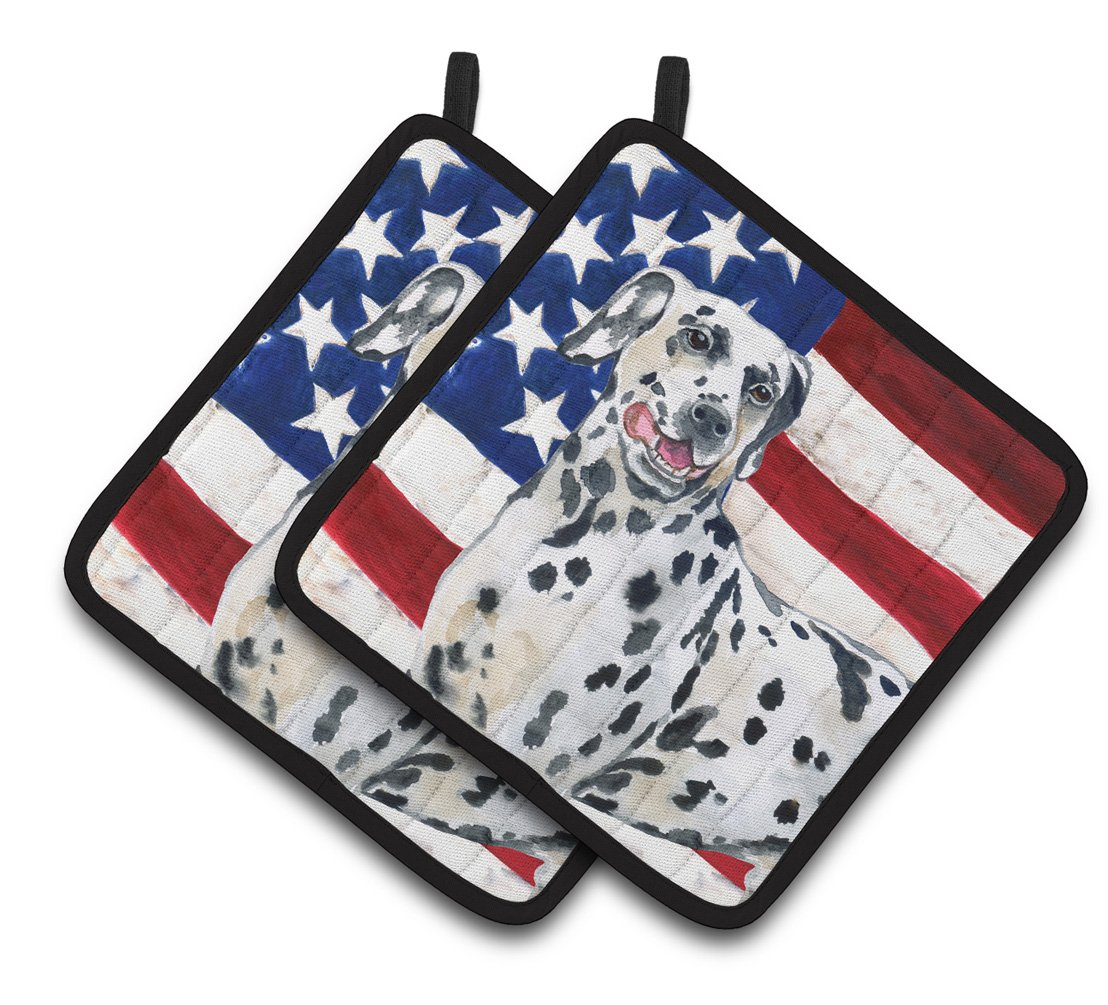 Buy this Dalmatian Patriotic Pair of Pot Holders BB9653PTHD