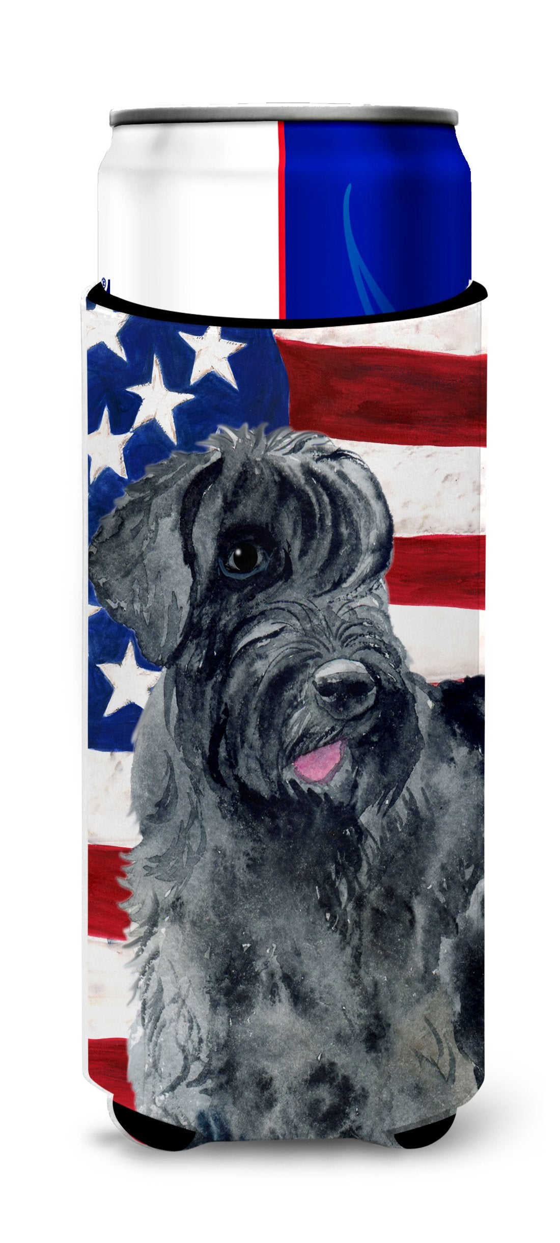 Giant Schnauzer Patriotic Michelob Ultra Hugger for slim cans BB9660MUK by Caroline's Treasures