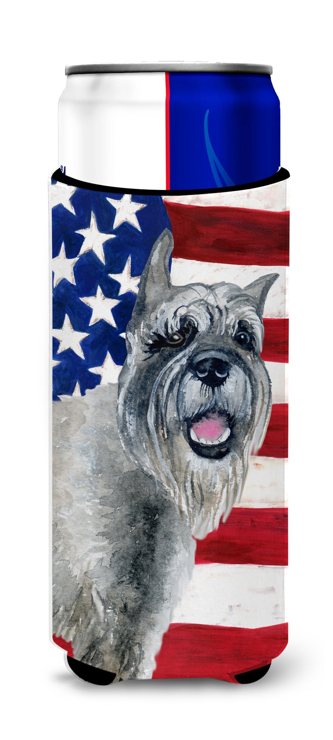 Schnauzer Patriotic Michelob Ultra Hugger for slim cans BB9662MUK by Caroline's Treasures
