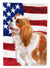 Cavalier Spaniel Patriotic Flag Canvas House Size BB9663CHF by Caroline's Treasures