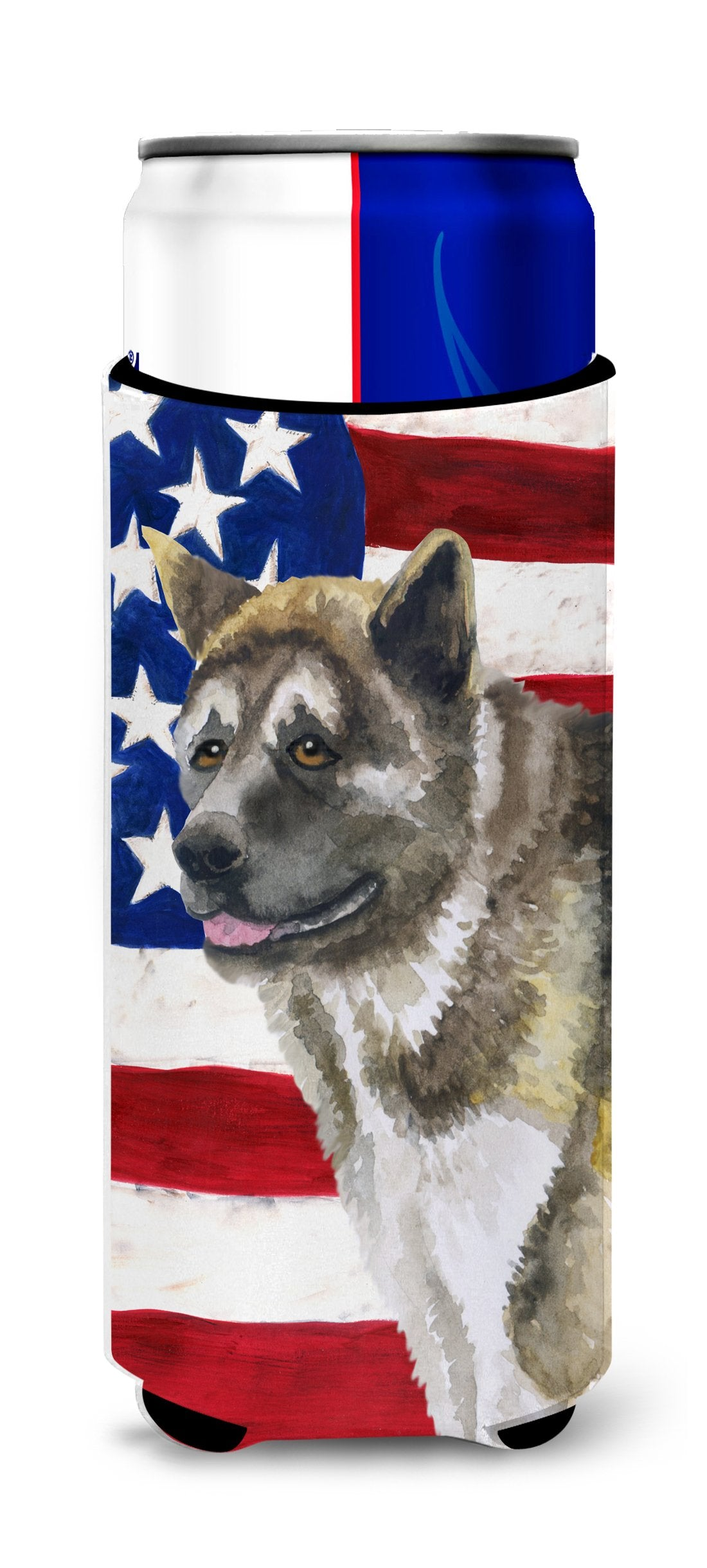 American Akita Patriotic Michelob Ultra Hugger for slim cans BB9669MUK by Caroline's Treasures