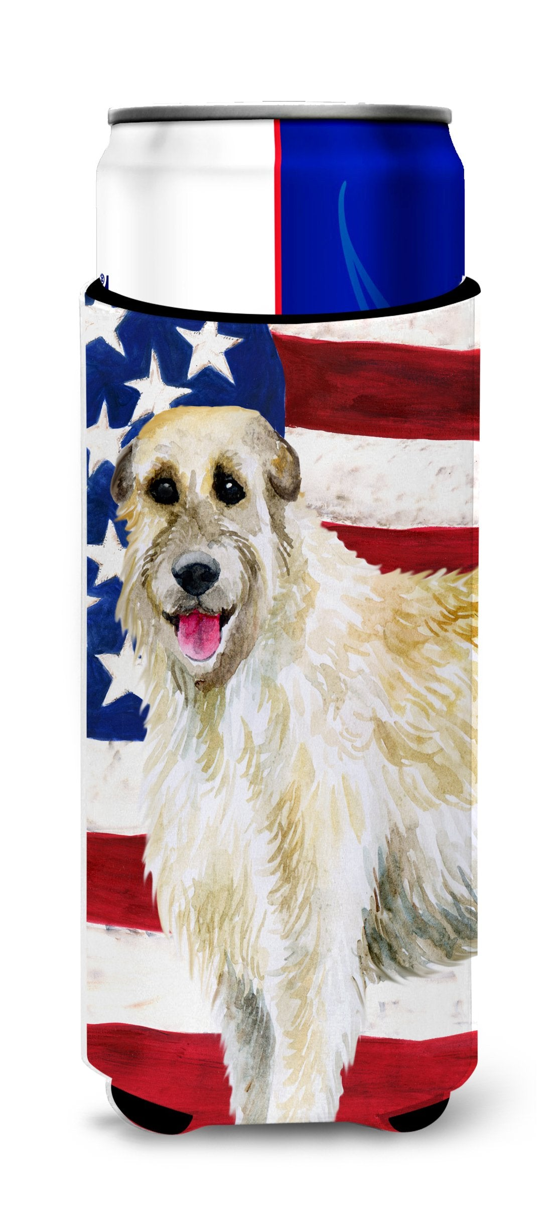 Buy this Irish Wolfhound Patriotic Michelob Ultra Hugger for slim cans BB9670MUK