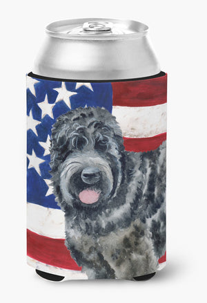 Buy this Black Russian Terrier Patriotic Can or Bottle Hugger BB9677CC