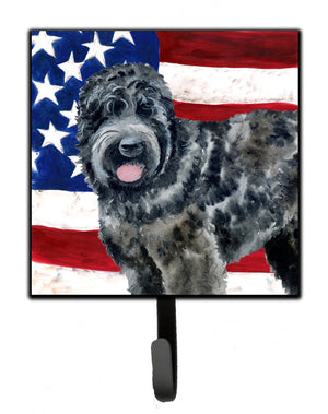 Buy this Black Russian Terrier Patriotic Leash or Key Holder BB9677SH4