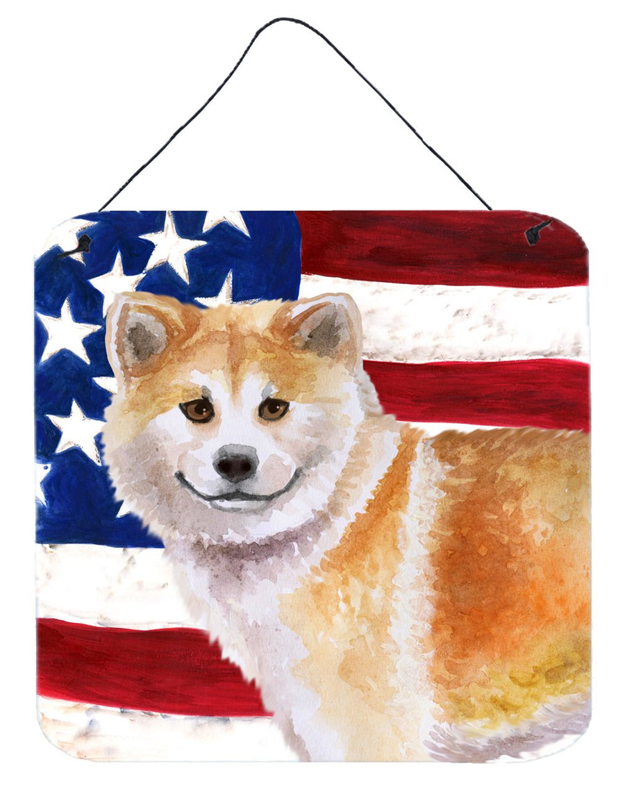 Buy this Shiba Inu Patriotic Wall or Door Hanging Prints BB9678DS66