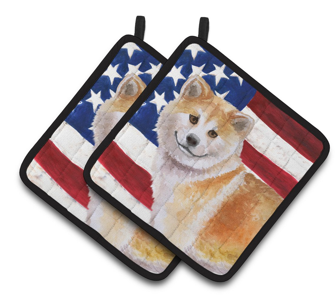 Buy this Shiba Inu Patriotic Pair of Pot Holders BB9678PTHD