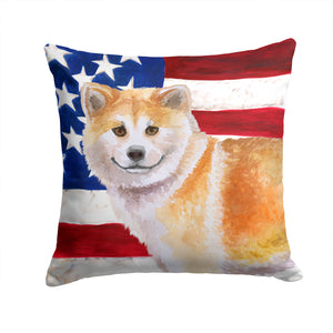 Buy this Shiba Inu Patriotic Fabric Decorative Pillow BB9678PW1414
