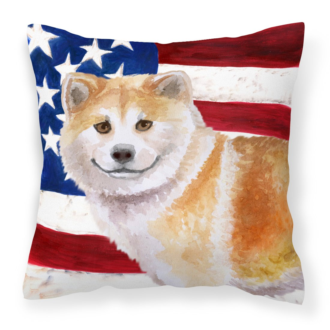 Buy this Shiba Inu Patriotic Fabric Decorative Pillow BB9678PW1818