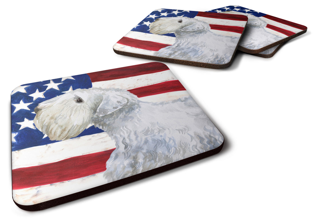 Buy this Set of 4 Sealyham Terrier Patriotic Foam Coasters Set of 4