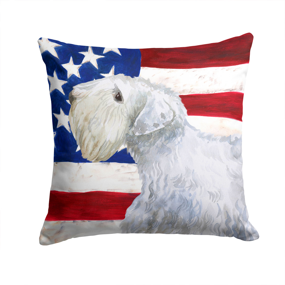 Buy this Sealyham Terrier Patriotic Fabric Decorative Pillow BB9684PW1414