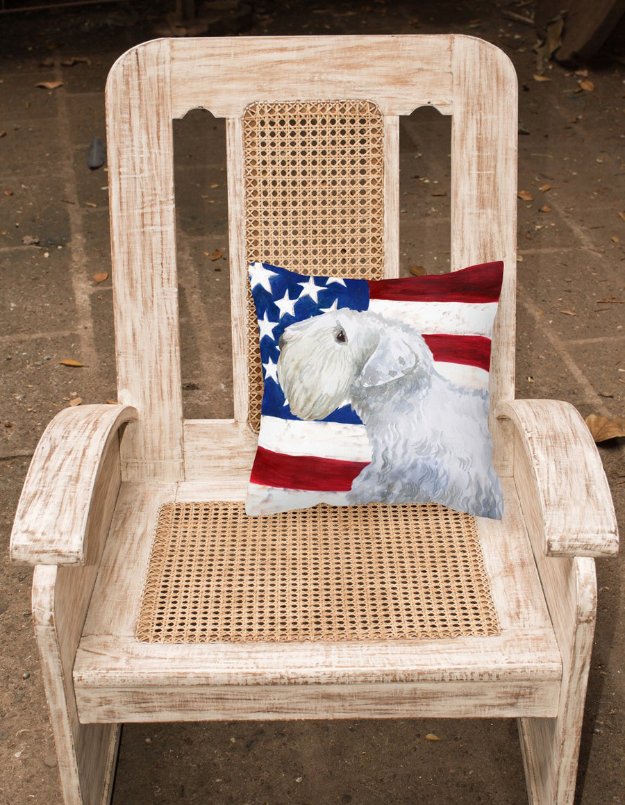 Buy this Sealyham Terrier Patriotic Fabric Decorative Pillow BB9684PW1818