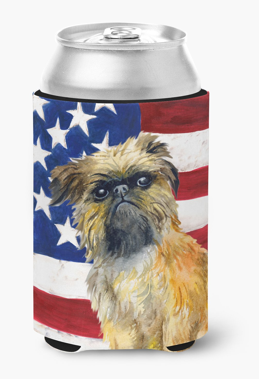 Brussels Griffon Patriotic Can or Bottle Hugger BB9687CC by Caroline's Treasures
