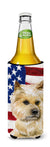 Cairn Terrier Patriotic Michelob Ultra Hugger for slim cans BB9690MUK by Caroline's Treasures