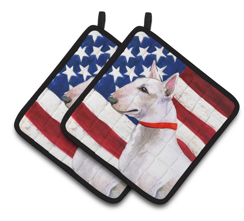 Buy this Bull Terrier Patriotic Pair of Pot Holders BB9693PTHD