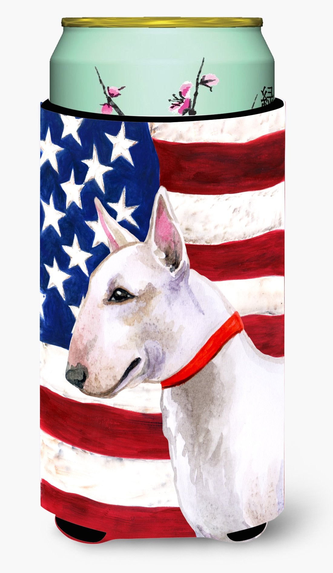 Bull Terrier Patriotic Tall Boy Beverage Insulator Hugger BB9693TBC by Caroline's Treasures