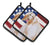 Afghan Hound Patriotic Pair of Pot Holders BB9702PTHD by Caroline's Treasures