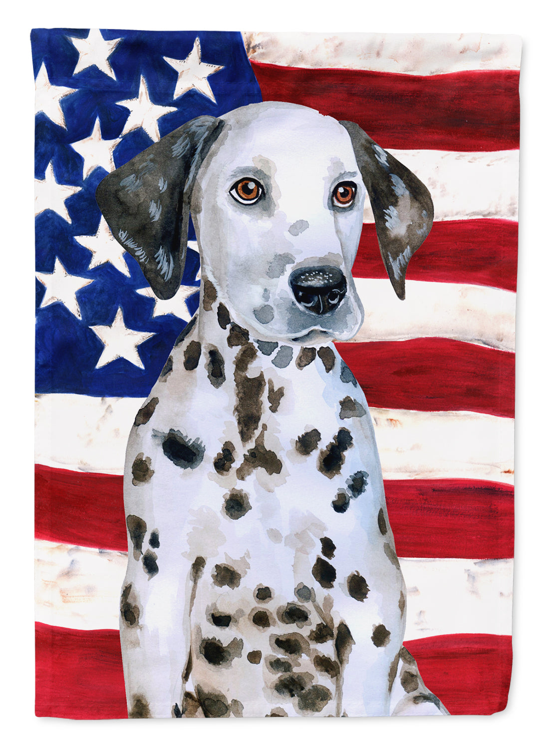 Dalmatian Puppy Patriotic Flag Canvas House Size BB9708CHF by Caroline's Treasures